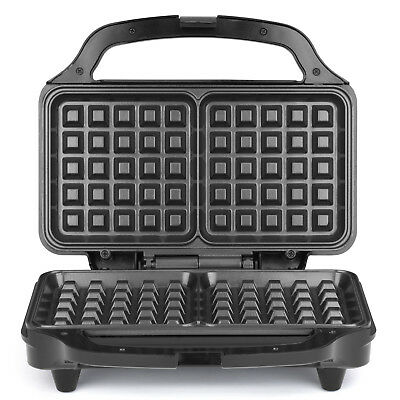 Salter Deep Fill Non Stick Iron Press Machine Breakfast Food Grill Waffle Maker