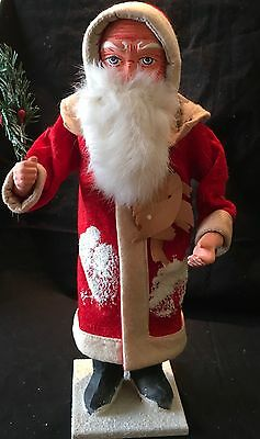 """Wonderful """"vintage Style"""" Large German Santa Candy Container"""
