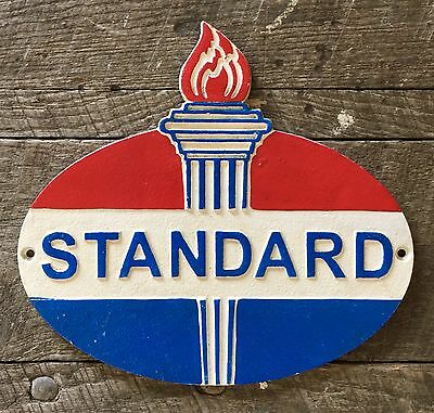 "STANDARD Motor Oil Vintage Cast Iron Sign, 9"" x 10"""