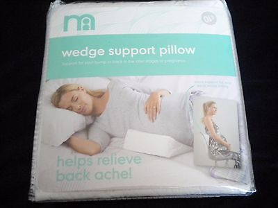 Mothercare Maternity Wedge Support Pillow/cushion For Bump Care & Back Support