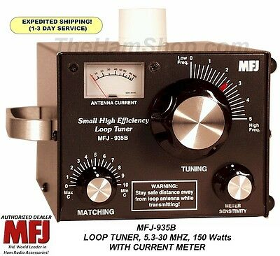 MFJ-935B 150W Loop Antenna Tuner 5.3-30 MHz With Current Meter