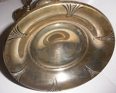 Antique American Sterling Silver Webster Art Deco compote candy dish