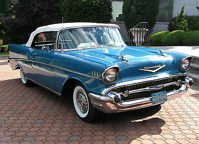 1957 Chevrolet Bel Air/150/210 Convertible - 283-270HP Dual Quad All Numbers Matching, Vintage Factory Muscle Car, Built W/ Orig.& NOS Parts!