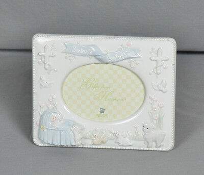 Russ Baby's Baptism Porcelain Picture Frame