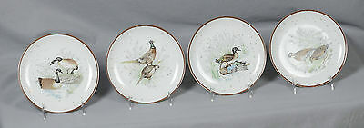 "Plates With Birds Made in Japan 7 1/2"" Wide - Set of 4"