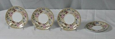 "Imperial Italian Design by Antonio - 4 Saucers 5 3/4"" Wide"