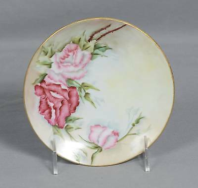 Vintage Hand Painted O&E.G. Royal Austria Plate Dated 1910 Signed M. Higinbothom