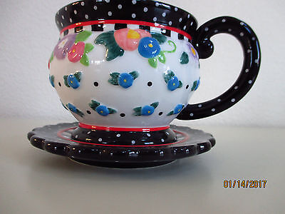 "Mary Engelbreit ""oh So Breit"" Tea Cup & Saucer (Rare Find)"
