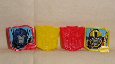 Transformers,Cupcake Party Rings,Toppers,DecoPac,Multi-Color,Plastic,12 Count.