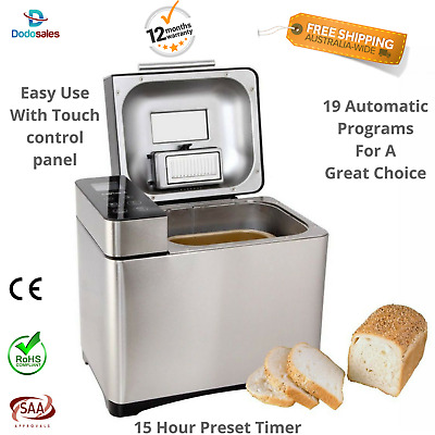 Bread Maker Oven Stainless Steel Loaf Bun Cakes Healthy Seeds Yoghurt Recipe NEW