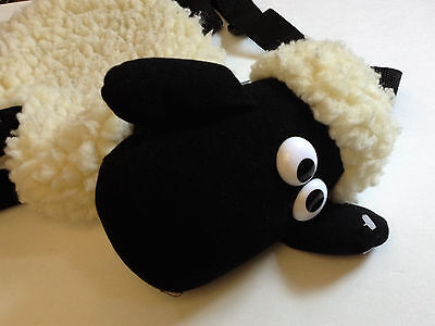 Vintage Shaun the Sheep 1989 Wallace and Gromit Large Stuffed Toy Purse NEW
