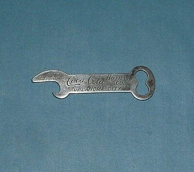 Vintage Coca Cola Bottle Opener - Oklahoma City - Early 1900's - Used
