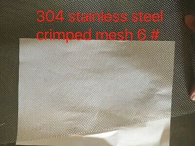 304 Stainless steel Crimped wire mesh 1.2m width*2/3/4/6 mesh ,just $50/m
