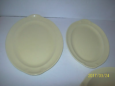 2-Ts & T Luray Pastels Yellow 13 And 11 1/2 In Platters
