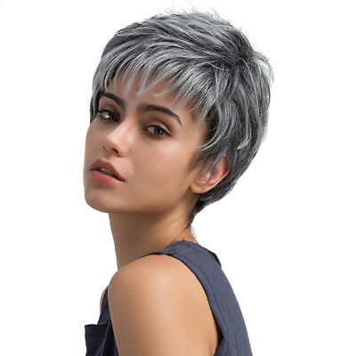 Natural Women Daily Short Straight Synthetic Full Hair Wigs Heat Resistant