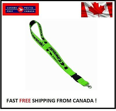 KAWASAKI Lanyard Detachable Keychain iPod Strap Badge ID Cell Holder GREEN