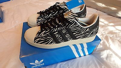 adidas Superstar 80s W Weiß. Women's Fitness Shoes. Sneakers Leather.4g
