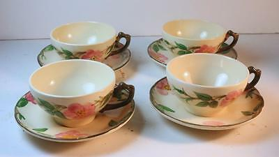 FRANCISCAN DESERT ROSE Cups and Saucers, Set of 4, Made in USA