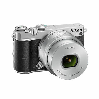 Genuine Nikon 1 J5 Mirrorless Digital Camera + 10-30mm Zoom Lens Kit - Silver
