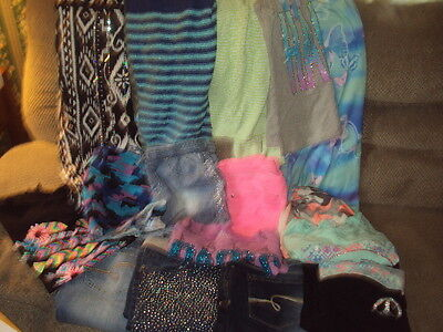 Large Lot Of Girls Justice Clothes-Size 18 1/2 To 20-Jeans,shorts,dress,skirt,sw