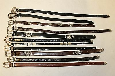 Lot of 11 Brighton Leather Belts Collection Resale Wholesale CZbQ