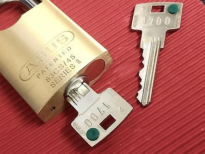 ABUS 83CS45 Padlock-Fitted With Secure 6 Inline Keying System & Restricted Keys