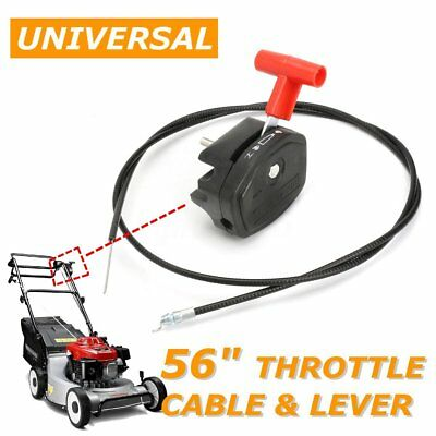 "Universal 142cm 56"" Throttle Cable & Choke Lever for Lawnmower Lawn Mower"