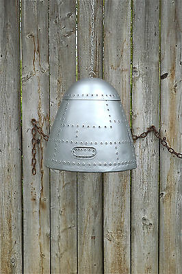 Extra large vintage aircraft nose cone hanging light aviator pendant shade