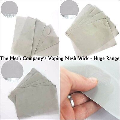 The Mesh Company's Vaping Mesh Wick - Massive Range, Top Quality & Best Prices