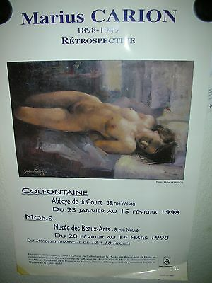 affiche expo  MARIUS CARION MONS colfontaine
