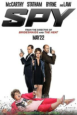 SPY MOVIE POSTER DS 27x40 MELISSA MCCARTHY JUDE LAW 2015 Film