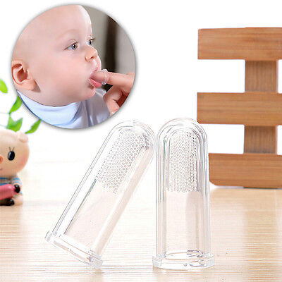 Silicone Soft Finger Toothbrush Teeth Clean Massage Brush Baby Infant KidPXc