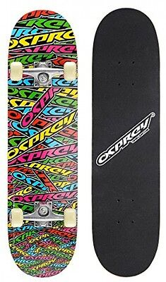 Osprey Complete Beginners Double Kick Trick Skateboard, 31 X 8 Inches Maple -