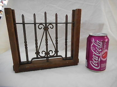 Antique Salesman Sample Wrought Iron Hand Forged Window Grate Architectural Salv