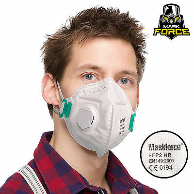 FFP2 P2 Dust Mask VALVED Respirator PROFESSIONAL Protection Safety FREE POST