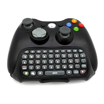 Wireless Controller Messenger Game KNIboard KNIpad ChatPad For XBOX 360 Black PP
