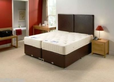 5ft king size  ORTHO SOURCE 5 ZIP AND LINK DIVAN BED IN FAUX LEATHER