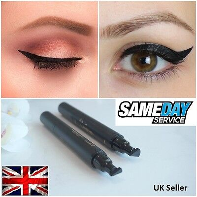Winged Wing Eyeliner Stamp (Thin) Black Waterproof, Fashion, Vamp, Rockabilly UK