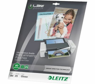 LEITZ iLAM 80 Micron A4 Laminating Pouches - 25 Pack - Currys