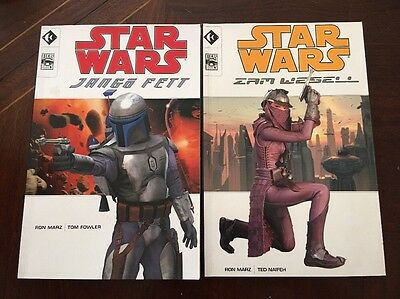 Star Wars jango fett, zam wessell graphic novels 2002