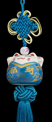 Suspension Maneki Neko-chat Japonais- Porte Bonheur-grand Modele -530-C4