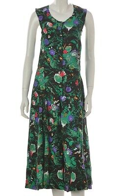Vintage 90s Abstract Floral Tie Back Jumpsuit Romper All in One Palazzo Leg 6 8