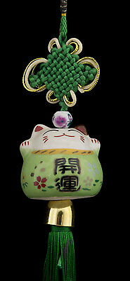 Suspension Maneki Neko-chat Japonais- Porte Bonheur-grand Modele -534-SD3