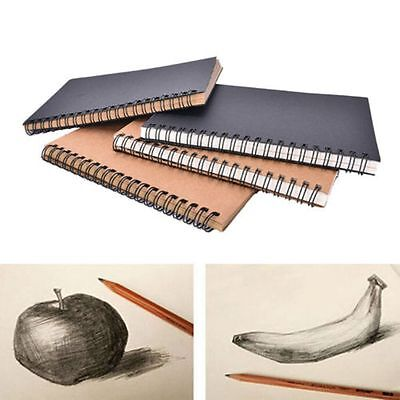 Supplies Sketch Spiral Bound Kraft Paper Sketchbook Crafts Notebook Art Paper