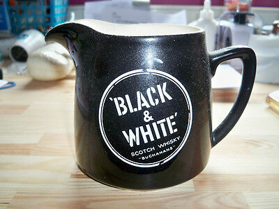 Wade Regicor*black & White Collectable Whisky Buchanans Jug*vintage