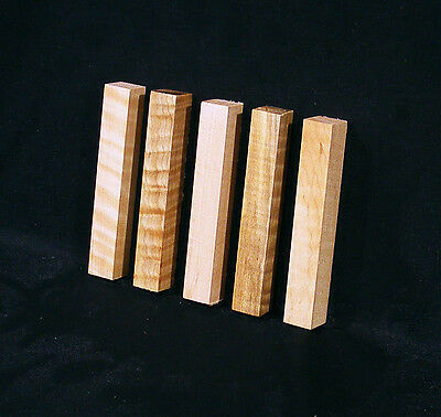 "5 Curly Maple Pen Blanks, ¾""x5"", Craft turning, carving wood"