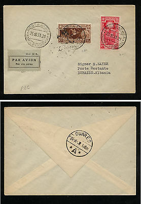 Italy    310,  CB1  on  cover  to  Albania     1933  KL0402
