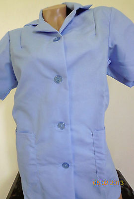 Best Medical S/S Smock 2 Bottom Pockets Tunic Scrub Top Blue Size Small