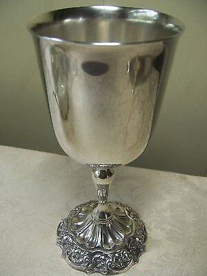 Reed & Barton vintage silver plated goblet  fancy floral foot.#2318.