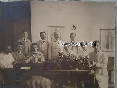 Greek Antique 1900's Medical Surgery, Morgue, Anatomy Corpse Doctors Rare Photo.